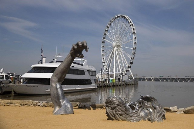 National Harbor beach